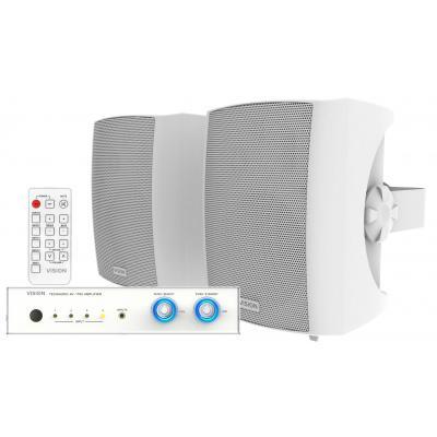 Vision audio versterker: Digital Amplifier, Pair 3-Way Wall Loudspeakers, 2 x 100w @ 8 ohms, 4 x Stereo inputs, 1 x .....