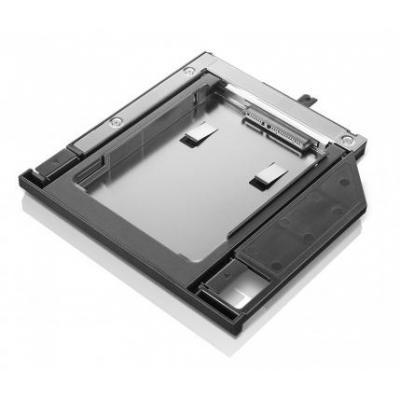Lenovo notebook reserve-onderdeel: ThinkPad 9.5mm SATA Hard Drive Bay Adapter IV - Zwart, Grijs, Roestvrijstaal