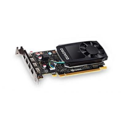 Lenovo ThinkStation Nvidia Quadro P600 2GB GDDR5 Mini DP, 4 Graphics Card With HP Bracket videokaart - Zwart