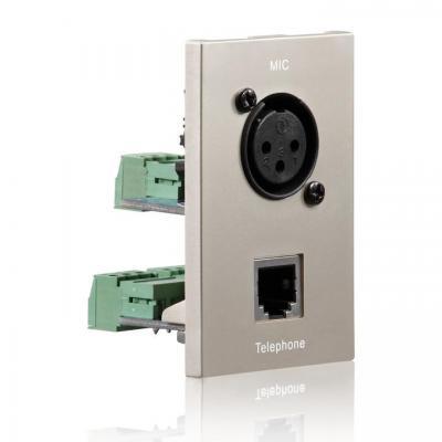 PureLink ID-WP-MOD-XL - XLR/RJ11, 22x68 mm Wandcontactdoos - Metallic