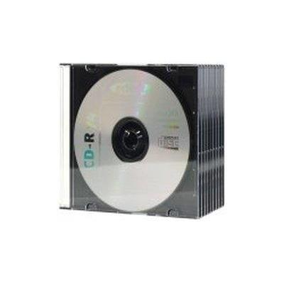 Ednet : 10 CD Slim Cases 5 mm - Zwart