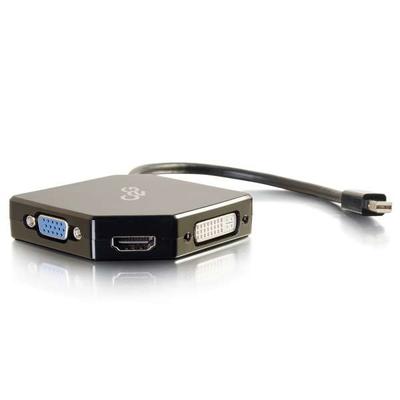 C2G Mini DisplayPort to HDMI, VGA, or DVI Adapter Converter - Black - Zwart