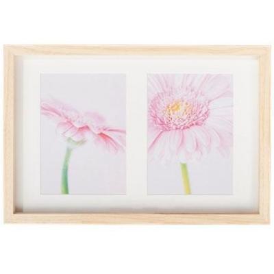 Henzo fotolijst: Memories, 2x 13 x 18cm, wood, white wash - Wit
