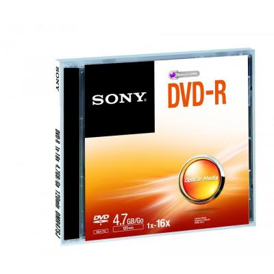 Sony DVD: DVD-R 16x, 4.7 GB