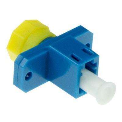 Advanced cable technology fiber optic adapter: Fiber optic LC-FC simplex adapter - Blauw, Geel
