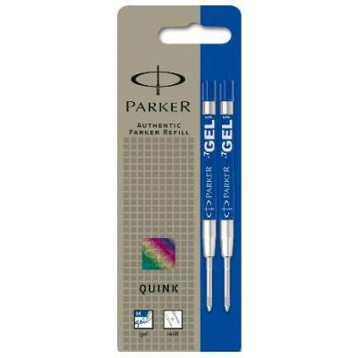 Parker pen-hervulling: Gel Ball Pen refill, Medium, Blue, Pack of 2 - Blauw, Zilver