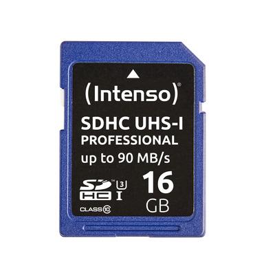 Intenso 16GB SDHC Flashgeheugen - Blauw