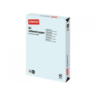 Staples papier: Papier SPLS A3 80g lichtblauw/pak 500v