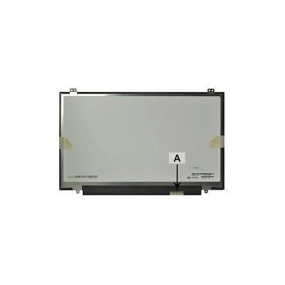 """2-power notebook reserve-onderdeel: 35.56 cm (14 """") 2560x1440 LED QHD Glossy - Zwart, Grijs"""