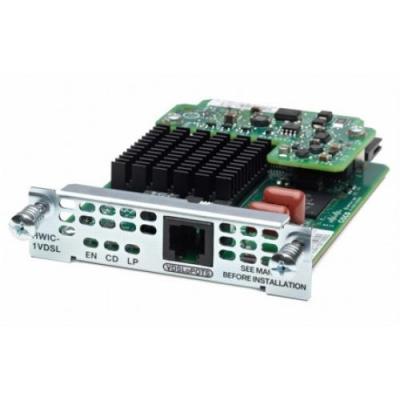 Cisco netwerkkaart: 1-port VDSL2/ADSL2+ EHWIC over POTS with Annex M, spare - Zwart, Groen, Roestvrijstaal