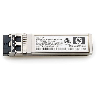 Hewlett packard enterprise netwerk tranceiver module: HP MSA 2040 1Gb Short Wave iSCSI SFP+ 4-Pack Transceiver