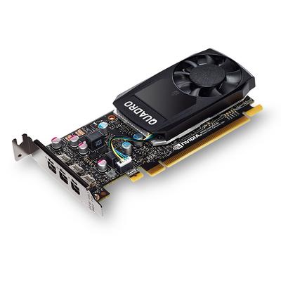Fujitsu 2GB GDDR5, 64-bit, PCI Express 3.0 x16, CUDA 256, 3x mDP 1.4, 30W Videokaart - Zwart