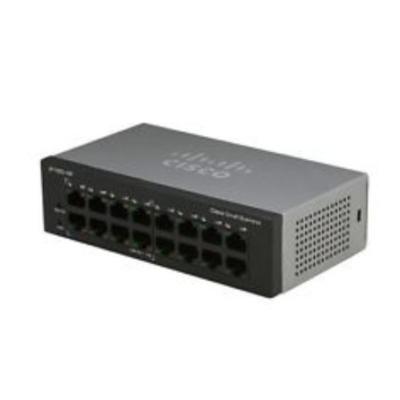 Cisco switch: SF110D-16 - Zwart