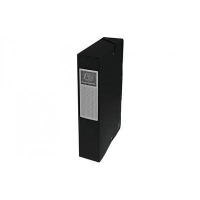 Exacompta archiefdoos: Archiefdoos Rug 60mm versterkt karton - A4 - Zwart