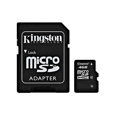 Kingston Technology flashgeheugen: 4GB microSDHC - Zwart