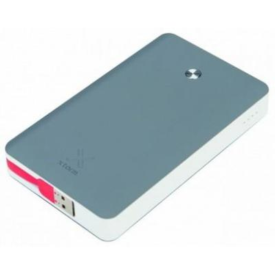 Xtorm powerbank: Power Bank Free 15000mAh, 3x USB2.0 - Grijs