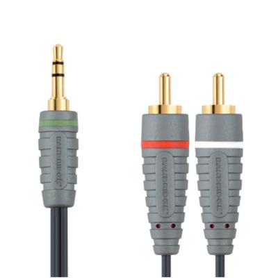 Bandridge Portable Audio Cable 1m - Zwart
