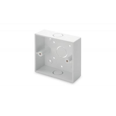 Digitus Surface mount box for faceplates, 86x86x32 mm, color pure white, UK layout Montagekit - Wit