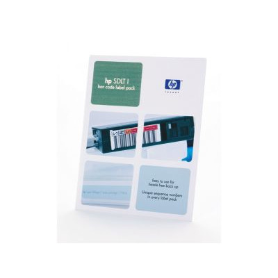 Hewlett packard enterprise barcode label: HP SDLT I Bar Code Label Pack