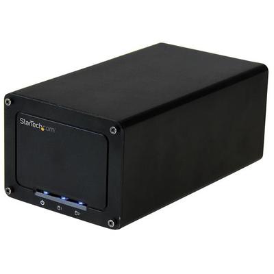 """StarTech.com USB 3.1 (10Gbps) externe voor dubbele 6.35 cm (2.5"""") SATA schijven 2 schijf voor SSD / HDD met ....."""