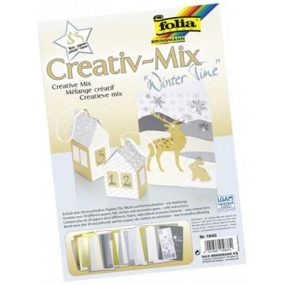 Folia creatief papier: Creative Mix – 83 parts - Veelkleurig