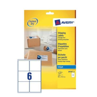 Avery A4, Inkjet, 150 etiketten, 99.1 x 93.1 mm Adreslabel - Wit