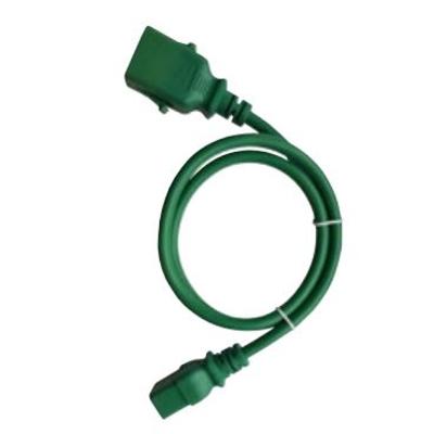 Raritan 2m, green, 1 x IEC C-14, 1 x IEC C-15 Electriciteitssnoer - Groen