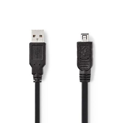 Nedis USB 2.0-Kabel, A Male - Hirose Mini 4-Pins Male, 2,0 m, Zwart USB kabel