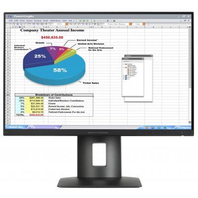 HP monitor: Z24n - Zwart (Demo model)