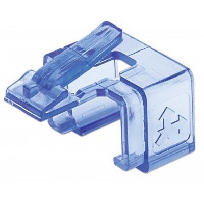 Intellinet kabelklem: Repair clip for RJ45 modular plug; transparent blue; 50 pack - Blauw, Transparant