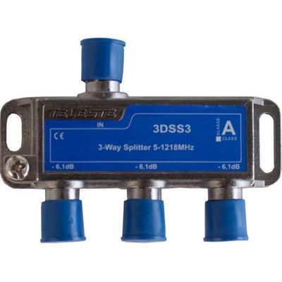 Hirschmann 3DSS3 Kabel splitter of combiner - Blauw, Metallic