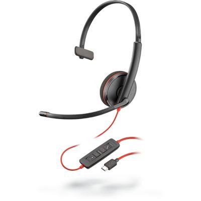 POLY Blackwire C3210 Headset - Zwart, Rood