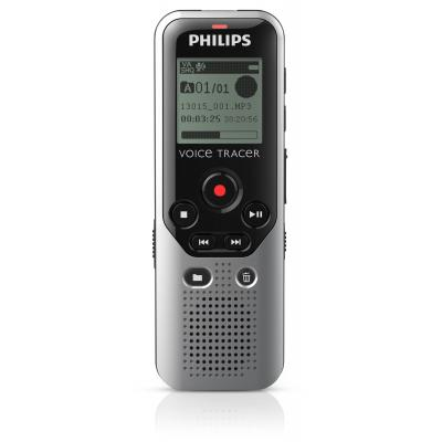 Philips voice recorder: Voice Tracer 1200 - Zwart, Zilver
