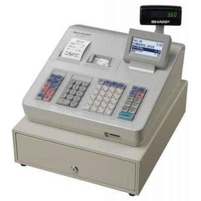 Sharp kassa: LCD, 10000 PLUs, 99 Departments