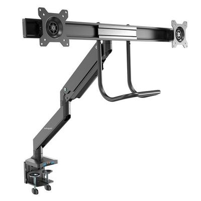 StarTech.com Dual monitor arm met ingebouwde 2 poorts USB 3.0 en audio passthrough ondersteunt 2 monitoren .....