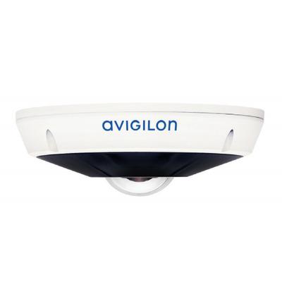"Avigilon 1/1.8"" progressive scan CMOS, 2000 x 2000, 0.13 lux, 1.45 mm, F/2.2, 360° Beveiligingscamera - Wit"