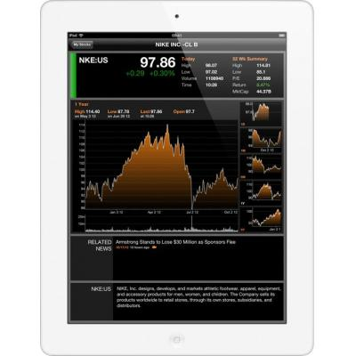 Apple tablet: iPad iPad 4 with Retina display with Wi-Fi + Cellular 64GB - White  (Refurbished LG)