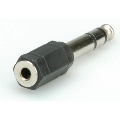ROLINE Stereo Adapter 6.35 mm M - 3.5 mm F Kabel adapter - Zwart
