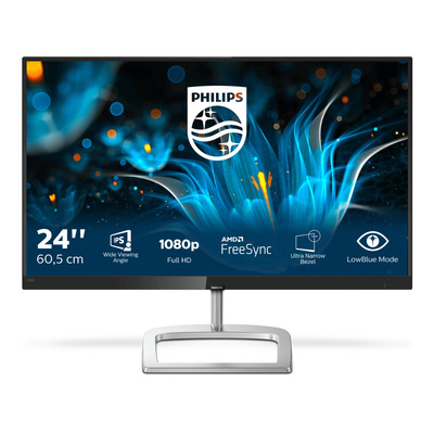 Philips E Line E-line LCD-met Ultra Wide-Color Monitor - Zwart,Zilver