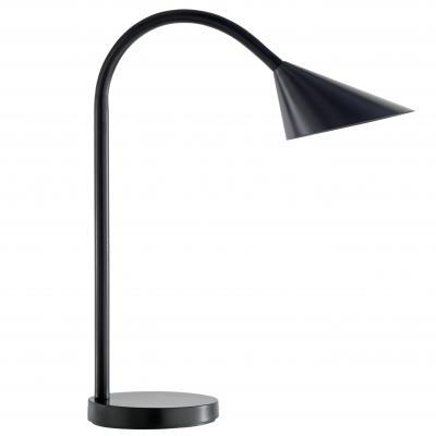 Unilux tafellamp: 4W LED, 3500K, 500 lm, 140x450mm, 11kg, Black - Zwart