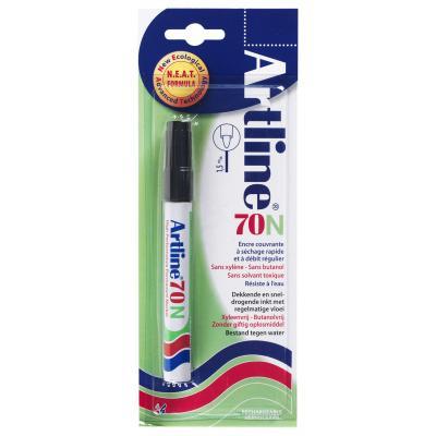 Artline 70 Black 12 pieces Marker - Zwart, Wit