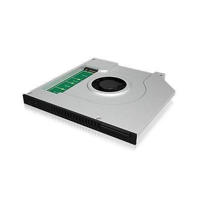 Icy box behuizing: IB-AC647 - Groen, Zilver