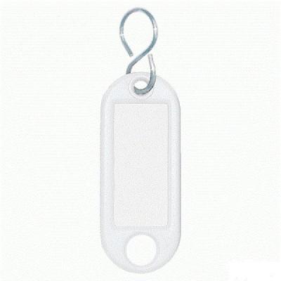 Wedo sleutehanger: Sleutellabel Wit, S-Ring, ø 15 mm (verpakking 10 stuks)