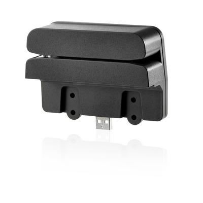 HP Retail geïntegreerde dual-head magneetstriplezer Kaartlezer - Zwart
