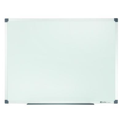 Nobo whiteboard: Classic Steel Whiteboard (600x450), staal met aluminium lijst, magnetisch, in retailverpakking - Wit