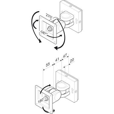 ROLINE LCD-Bevestiging, Wandmontage B Monitorarm - Grijs