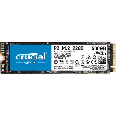 Crucial P2 M.2 500GB 2280 NVMe Tray SSD