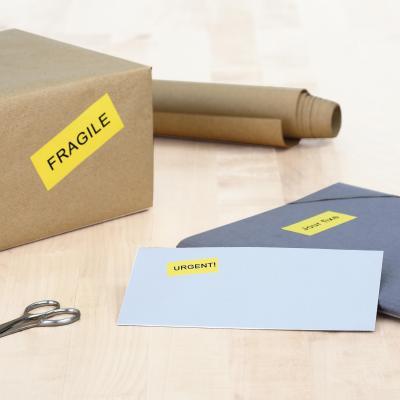 Herma etiket: Coloured labels A4 105x42.3 mm yellow paper matt 280 pcs. - Geel