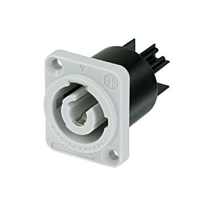Neutrik Chassis Socket, Grey Kabel connector - Zwart, Grijs
