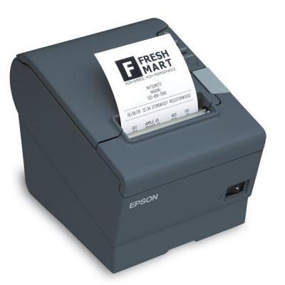Epson pos bonprinter: TM-T88V(238): Ethernet, PS, EDG, Buzzer, EU - Grijs